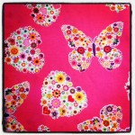 butterfly pattern fabric print