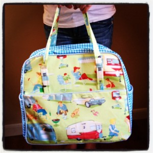 sewing bag pattern camper retro travel