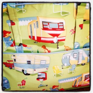 camper fabric retro colourful fun textiles print