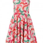 tropical print amy dress