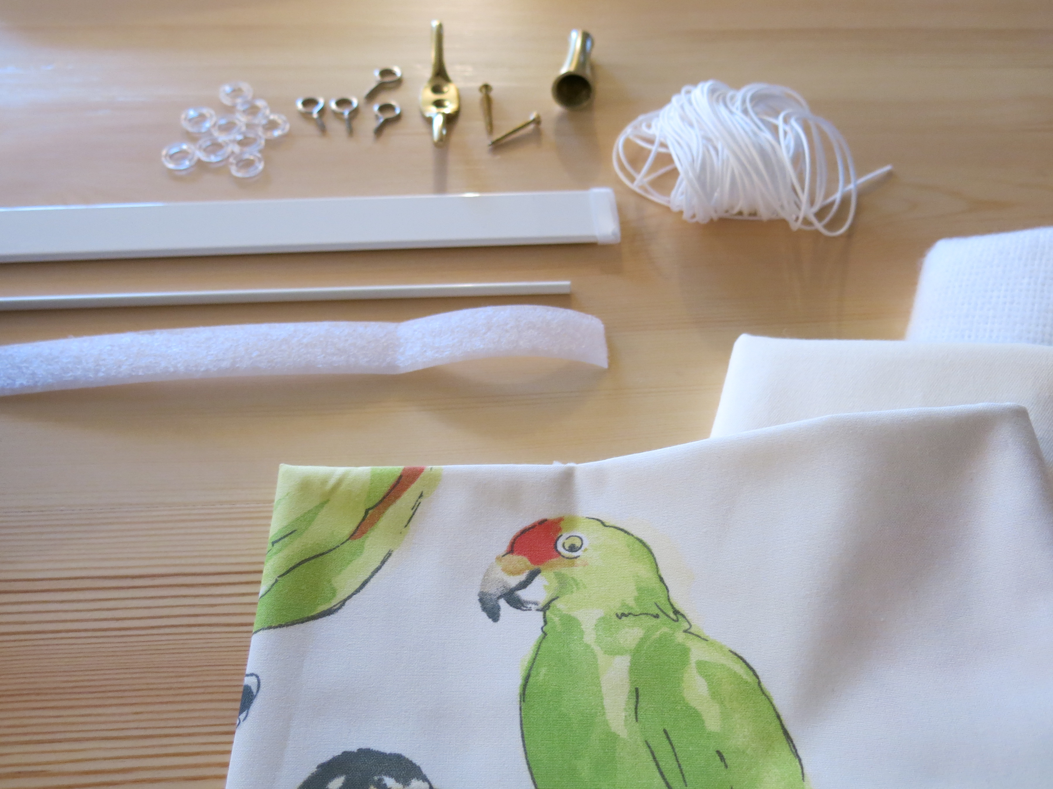 Free no sew roman shade instructions for child safe shades.