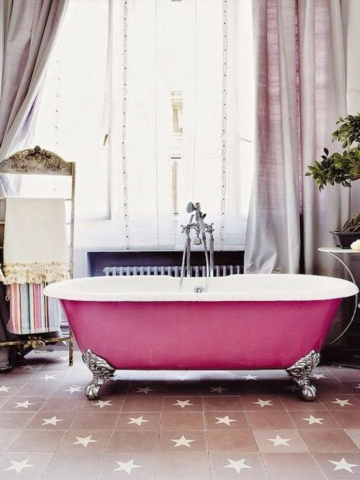 Pink Rolltop Bath
