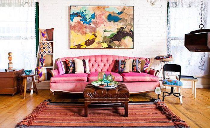 Pink Vintage Sofa