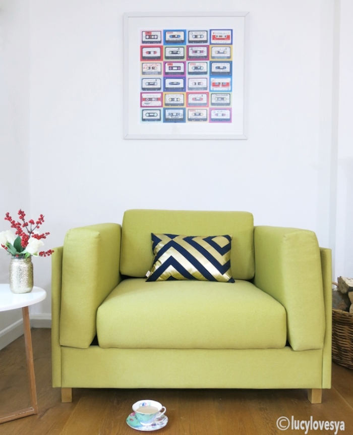 Habitat Colombo Armchair Sofa Bed In Saffron