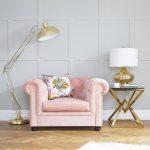 Sweetpea & Willow Vintage Rose Berkley collection armchair ú1495, antique mercury glass lamp ú195, Eicholtz connor side table ú1195   (7)