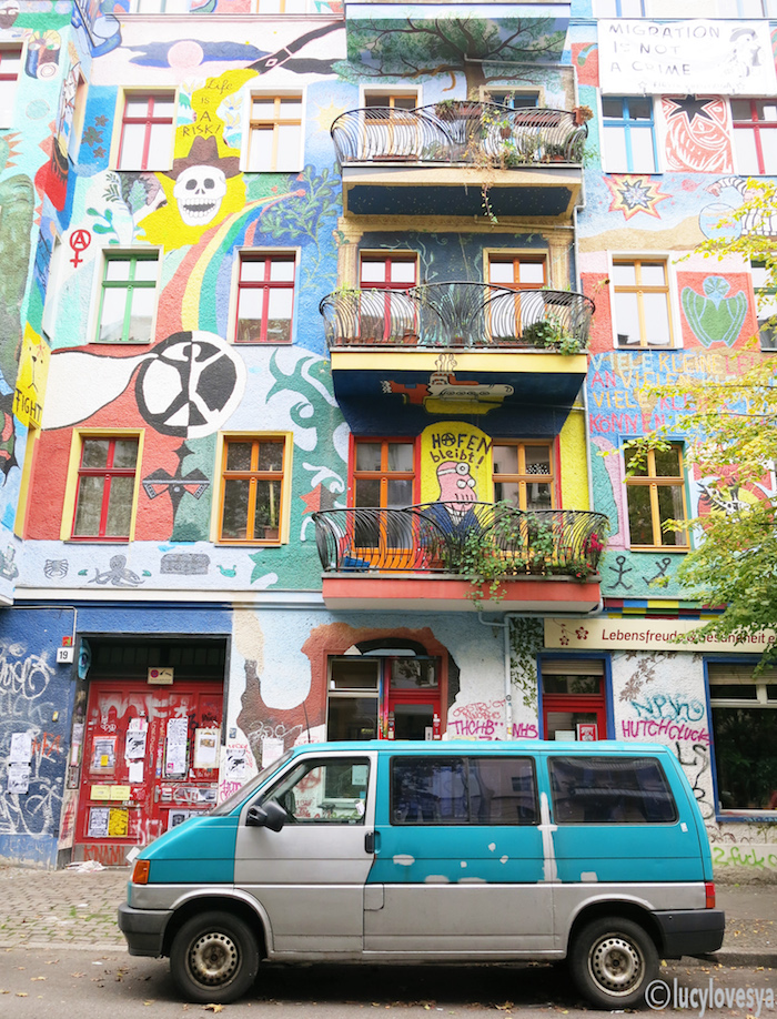 friedrichshaindistrict-berlin colourful street germany