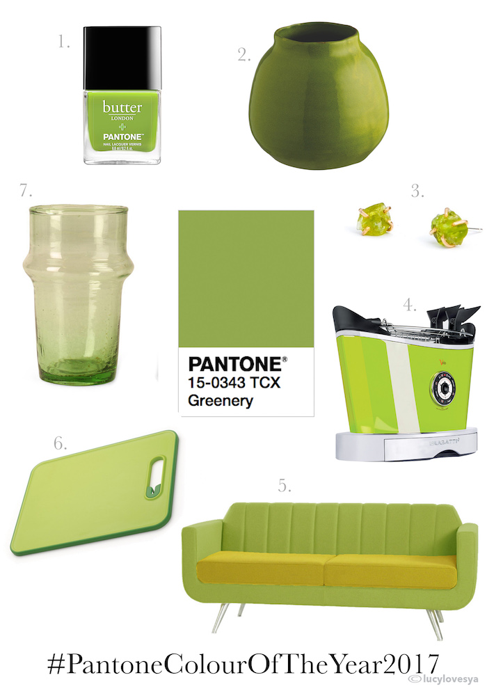 Pantone Greenery 2017 colour year palettes inspiration