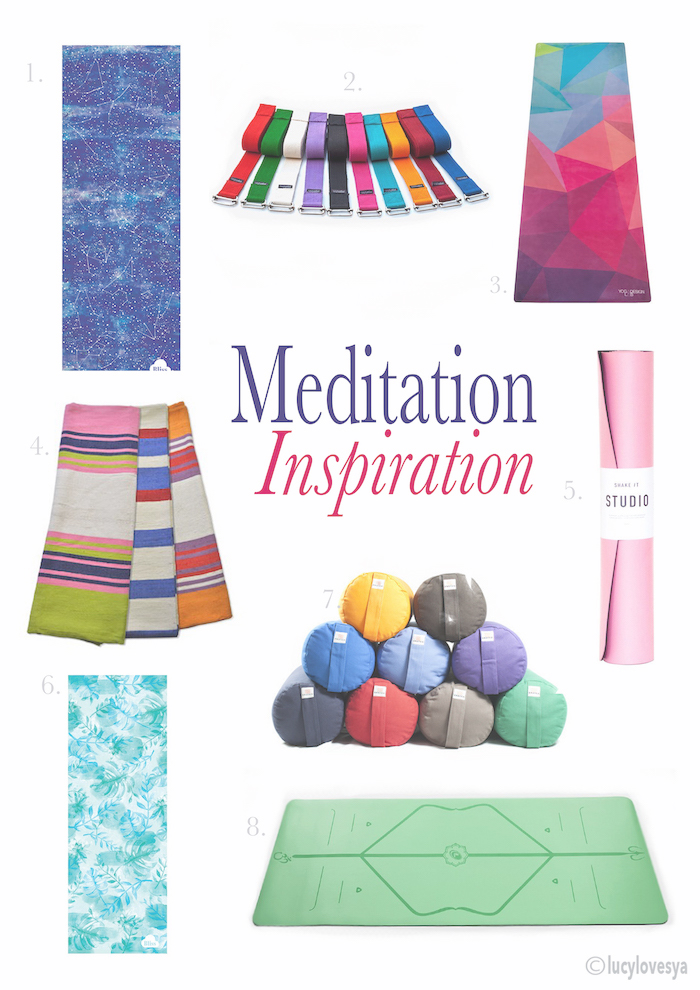 inspiration meditation ideas colourful mat colorful