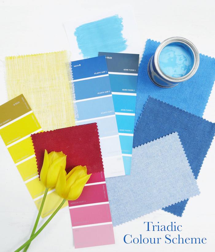 Triadic colour scheme Interior Design