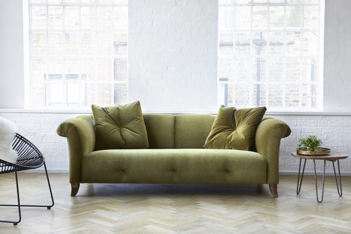 olive green velvety stylish comfy classic