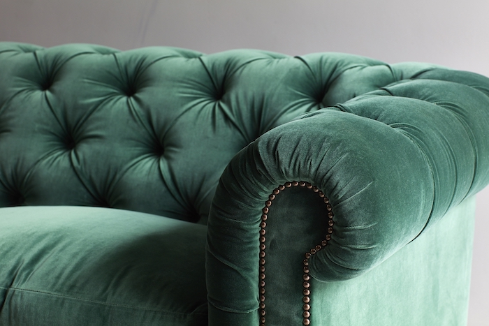 luscious deep green emerald velvet comfy tasteful