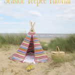 Tutorial Seaside DIY tent stripes happy fabric kids