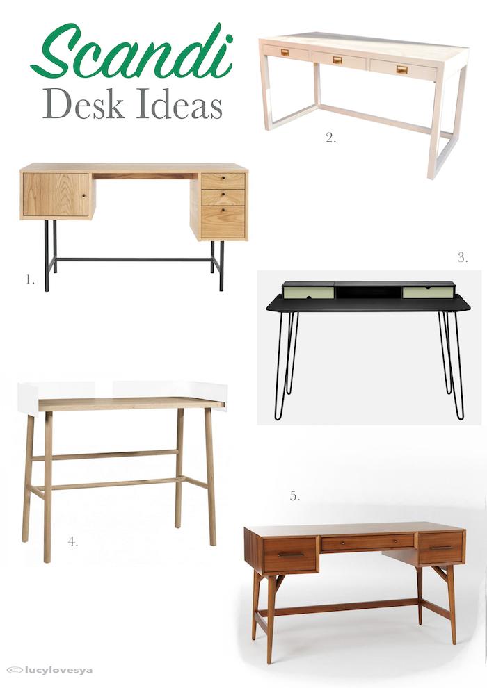 Scandi desks nordic danish style