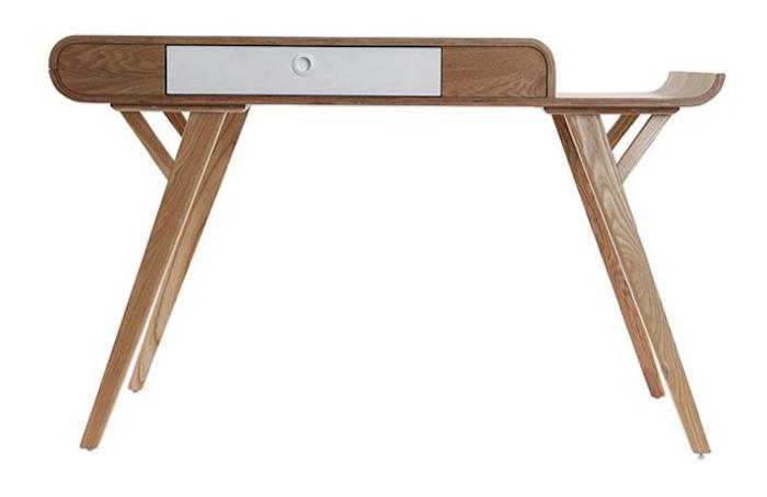 scandi style desk wooden