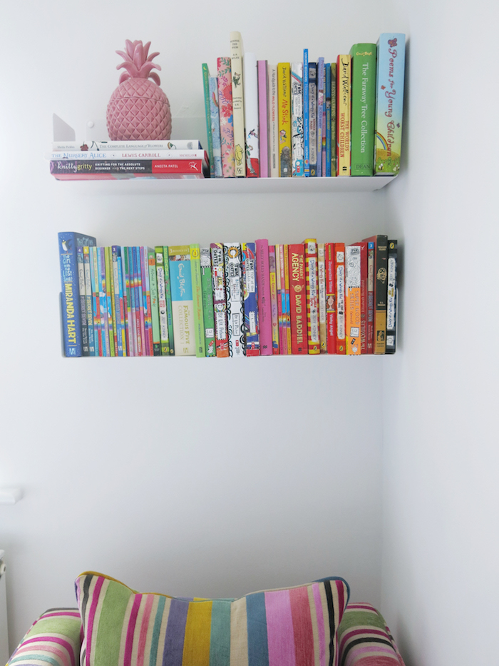 bookcase shelves white room modern sleek design