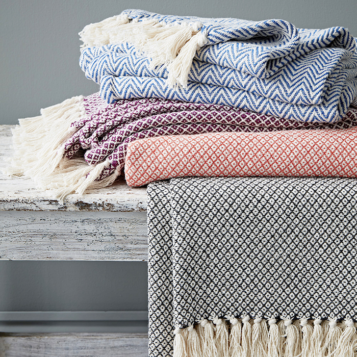 Fairtrade blankets throws colourful cosy homeware