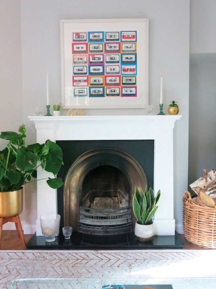 White Painted Fireplace
