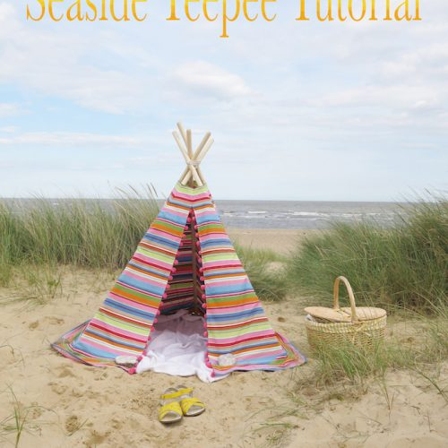 How to Make a Summery Seaside Teepee