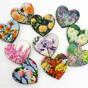 decoupage coasters hearts bombus