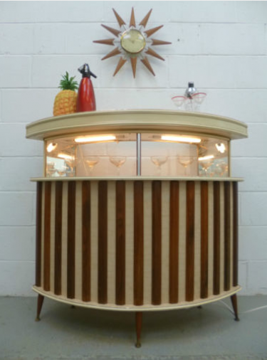 retro drinks cabinet bar for dj decks