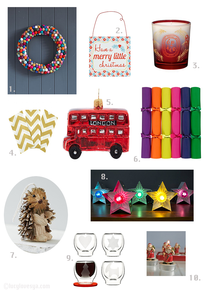 colourful christmas ideas and inspiration