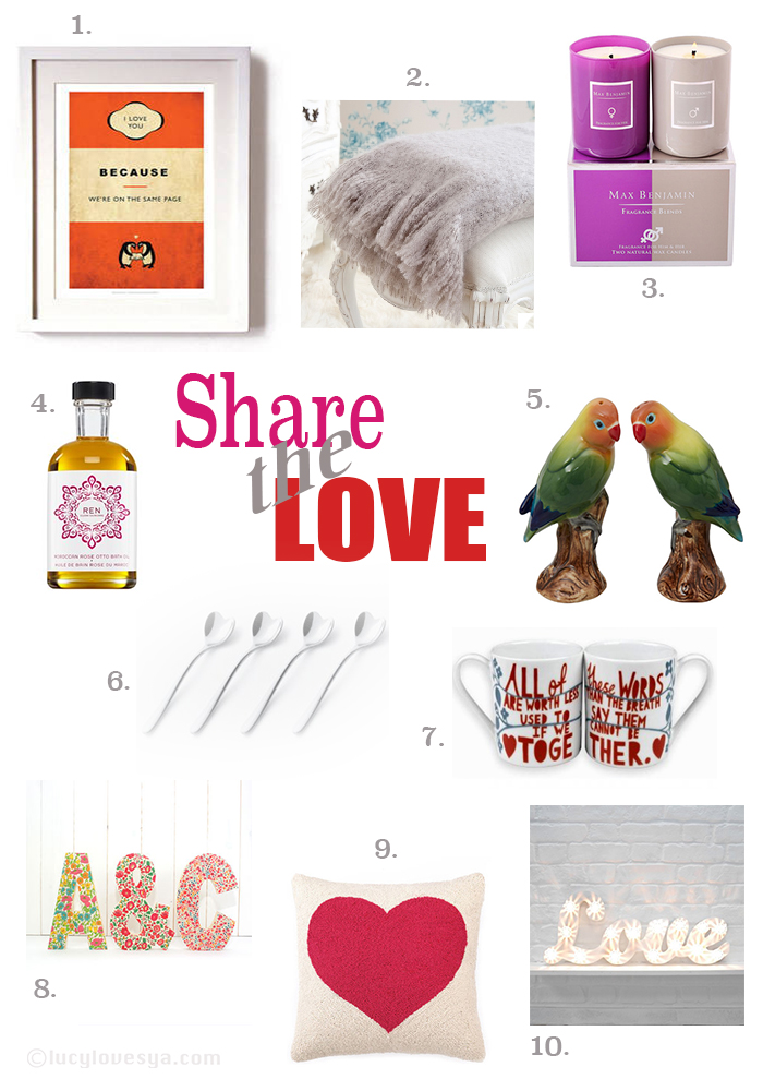 valentines homeware gifts to share