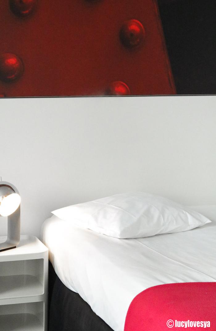 Pantone Red Bedroom