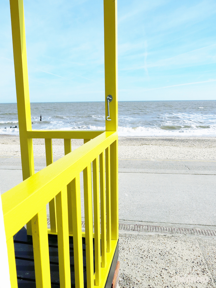 Yellow Beach Hut in Southwold