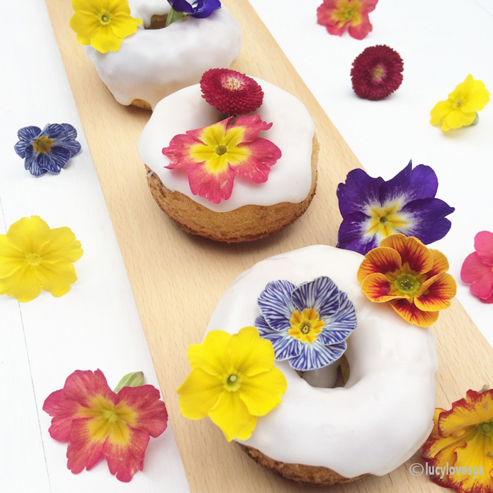 Doughnuts With Flowers