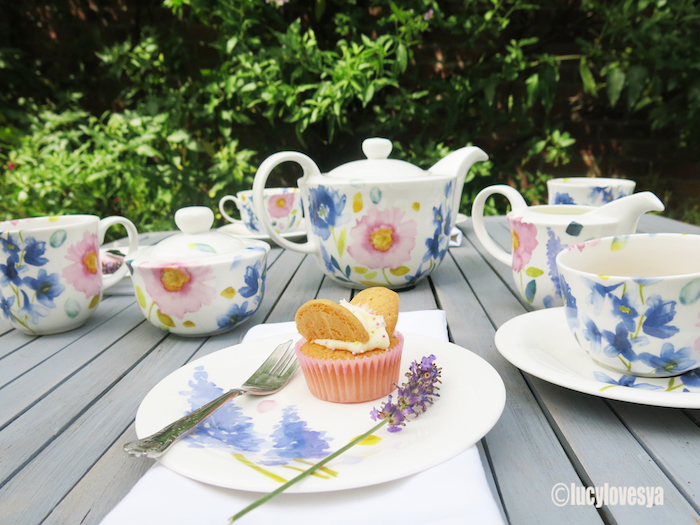 Bluebellgray Tea set pretty floral cupcake