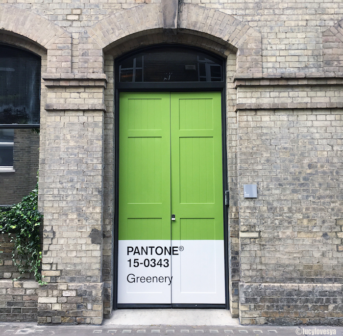 pantone greenery airbnb door east london haven