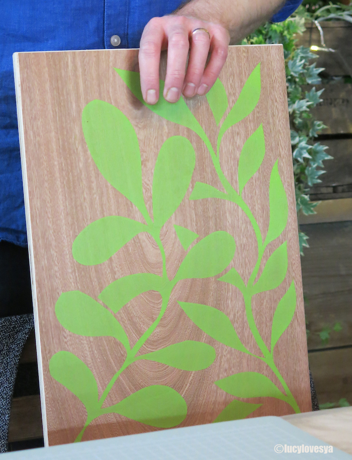 screen printing greenery craft london teacher