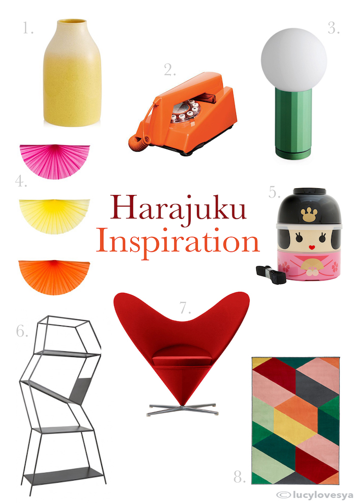 harajuku home inspiration colourful kids room