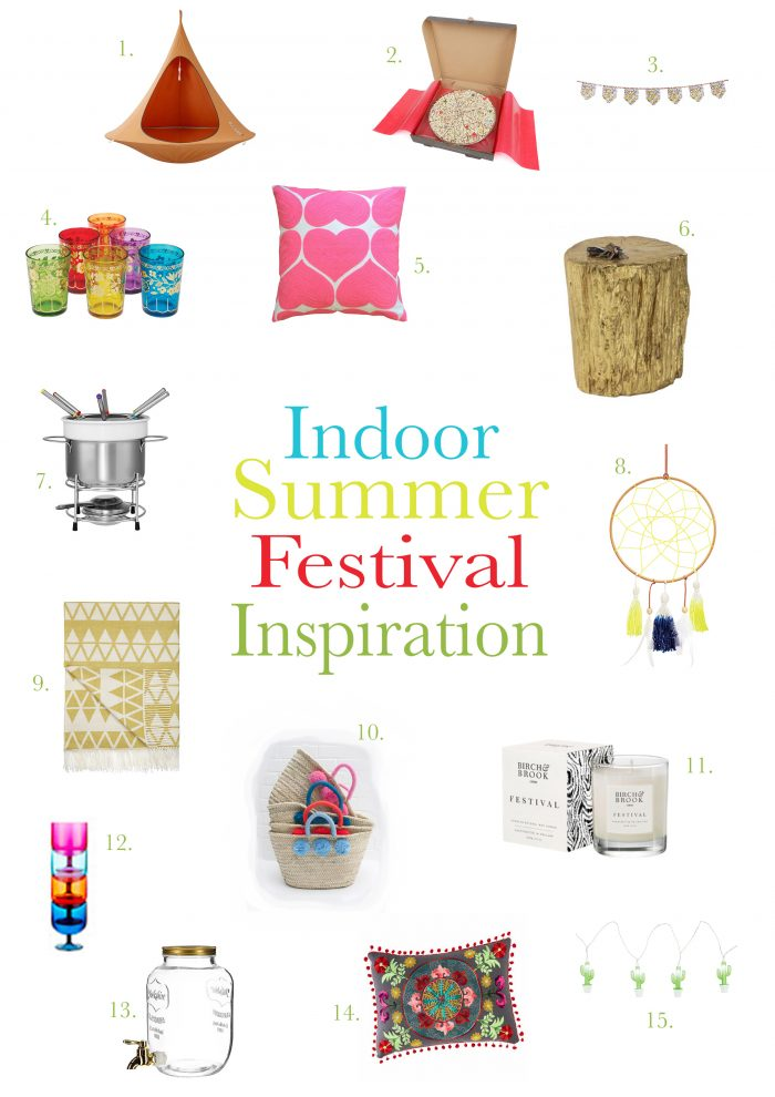 Festival indoor interior home ideas colourful inspiration music