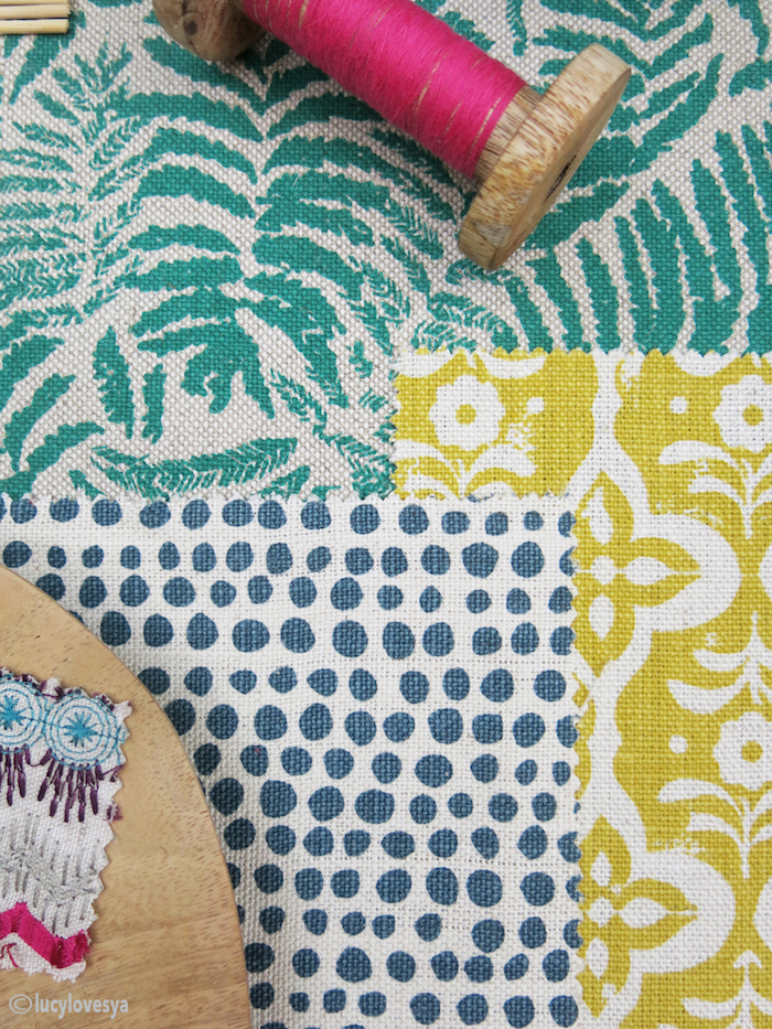 Fabric Textiles prints patterns colourful cheery colours