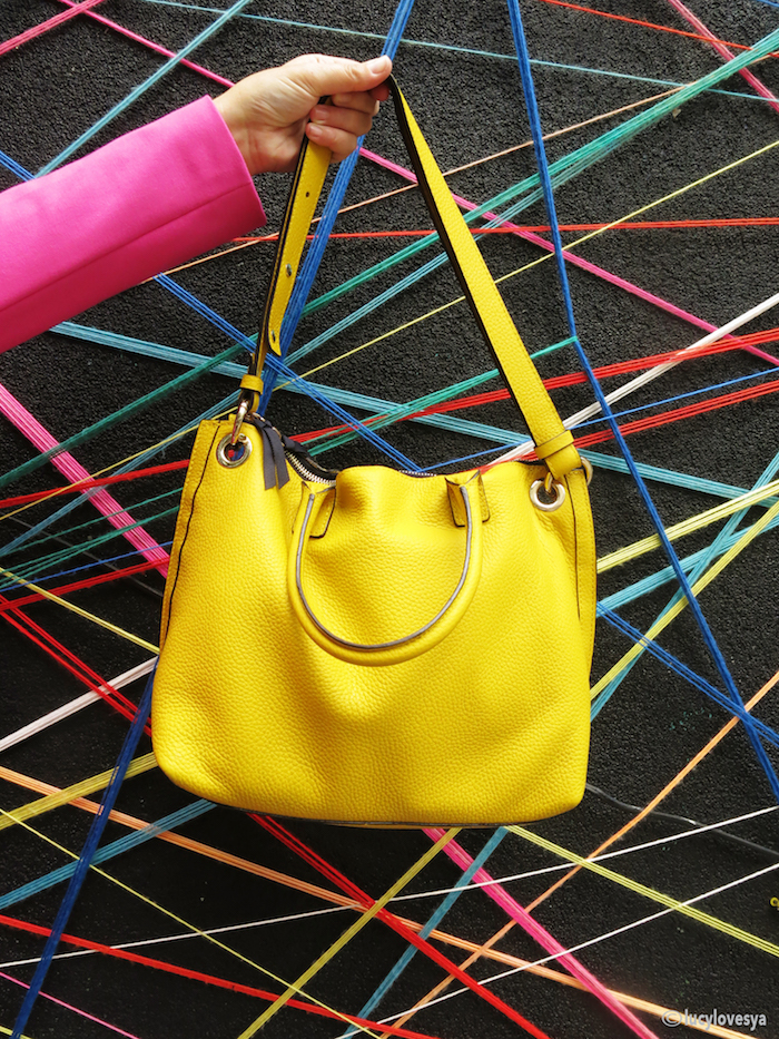 Boden Toulon handbag yellow toronto graffiti alley