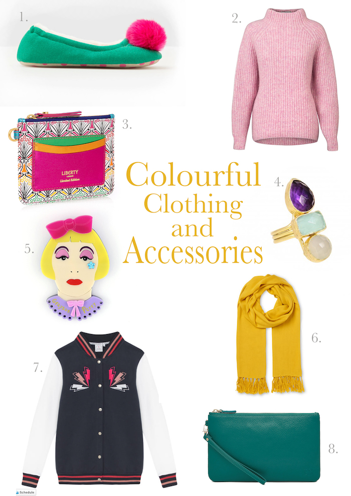 Colourful clothing gift ideas christmas