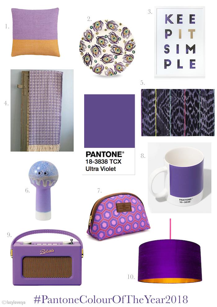 Pantone Ultra Violet Moodboard