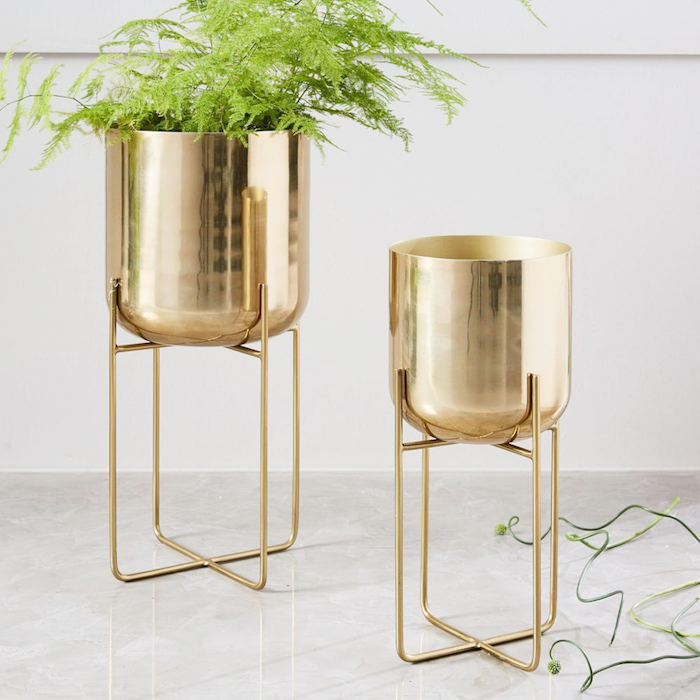 gold planter west elm legs