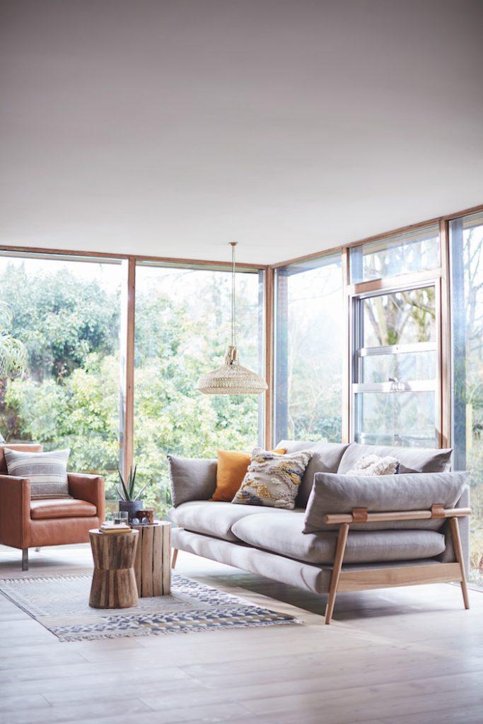 DFS Hoxton sofa wooden 70s 2018 trends milan design week
