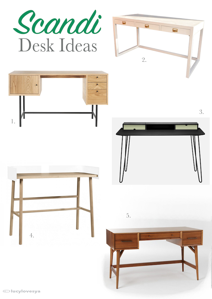 Scandi desks nordic danish style