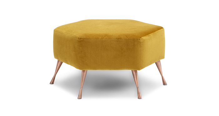 Velvet Foot Stool DFS