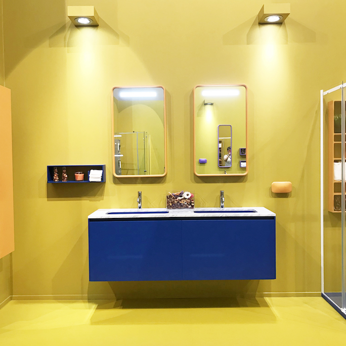 colourful bathroom