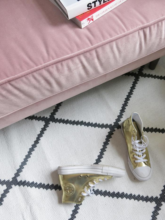 Pink sofa cuddler living room cosy dfs