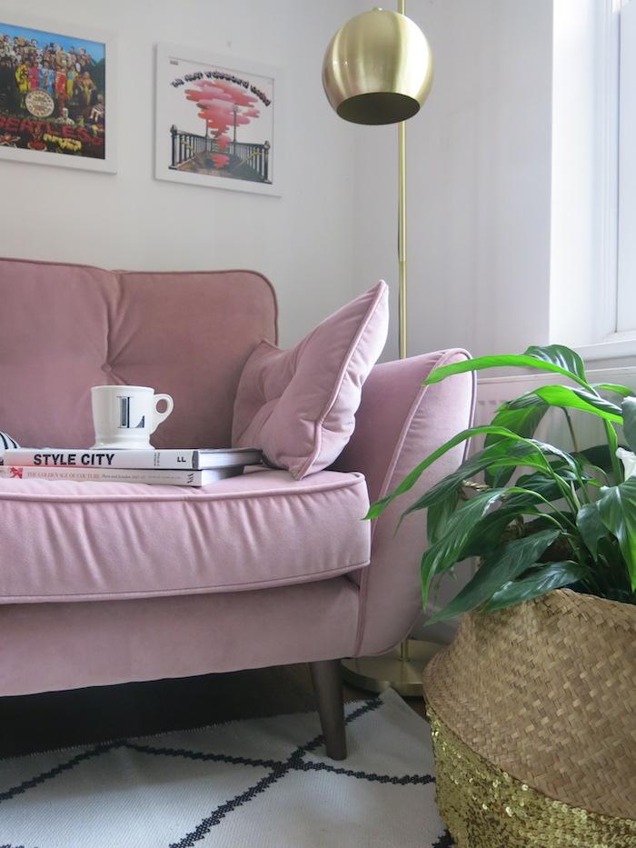 pink sofa cuddler dfs living room cosy love sofa