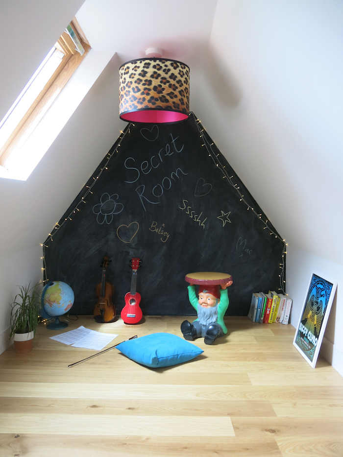 Kids Den Blackboard wall music room Wooden Floors cosy inviting
