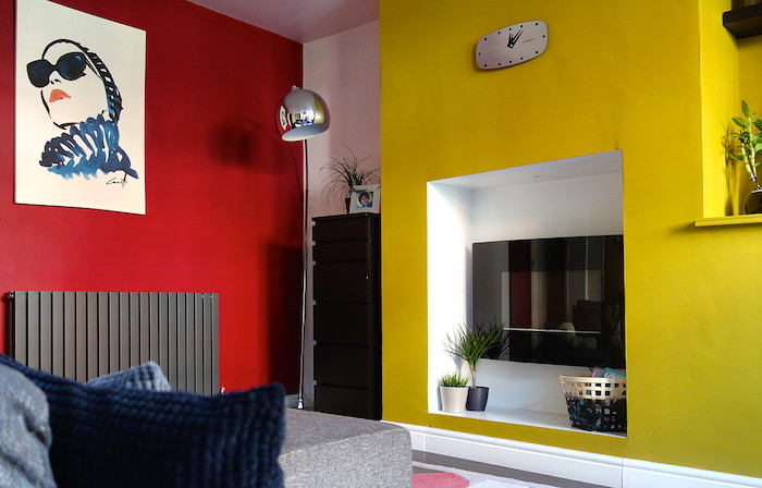Red Yellow Room Bright Cheery