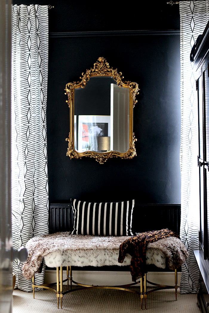 Black Bedroom Dark Moody Cosy Calm