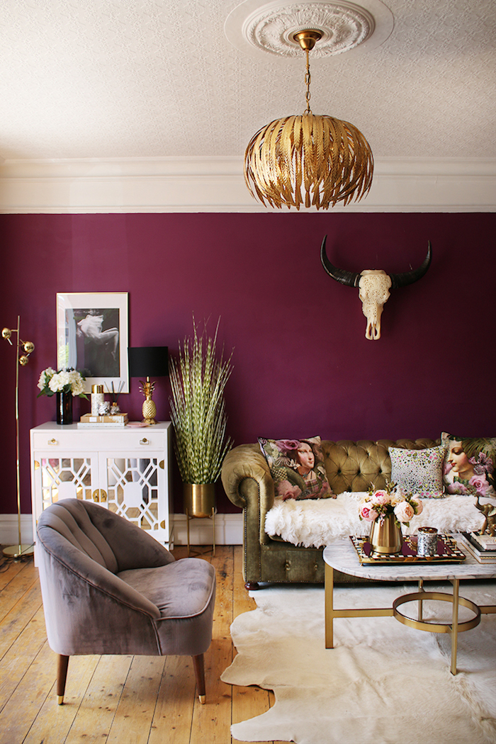 Plum Colour Room Living Bright Happy Colour
