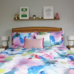 Grey Bedroom Colourful TV Scene Filming Blluebellgray Cosy home